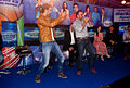 Ranbir Kapoor, Virender Sehwag, Prannoy Roy, Dia Mirza, Bhaichung Bhutia at the NDTV Marks for Sports event 07.jpg