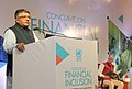 Ravi Shankar Prasad addressing at the valedictory session of the Conclave on Financial Inclusion, organised by the United Nations in India, in New Delhi.jpg