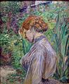 Red-Headed Woman in the Garden of Monsieur Foret by Henri de Toulouse-Lautrec.jpg