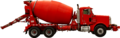 Red cement mixer truck.png