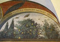 Refettorio di ognissanti, ultima cena del ghirlandaio, 1480, 04.JPG
