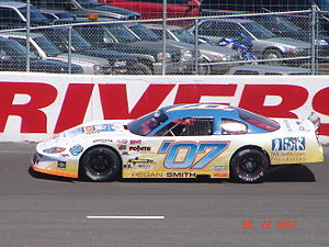 Riverside International Speedway - Regan Smith on the backstretch during practice for the 2007 IWK 250