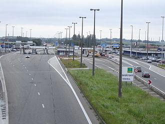 European route E17 - Belgian-French border crossing in Rekkem, demolished in 2014