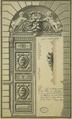 Relevé de la porte du Palais du Luxembourg, fin du 18e siècle - Gady 2005 p36 fig25.png