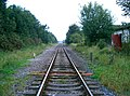 Remains of Rossett Station looking towards Chester - geograph.org.uk - 1180785.jpg