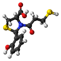 Ball-and-stick model of the rentiapril molecule