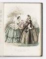 Reprofotografi av modeplansch i tidskriften Le Journal des Demoiselles - Hallwylska museet - 87573.tif
