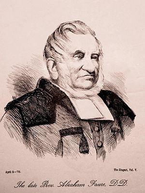 Abraham Faure - Rev Abraham Faure. 2 April 1875, Zingari Vol V