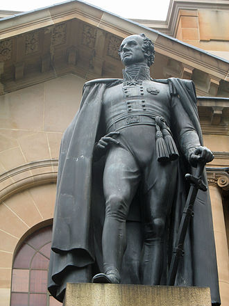 Richard Bourke - A statue of Richard Bourke, the first public statue ever erected in Australia, stands outside the State Library of New South Wales in Sydney.