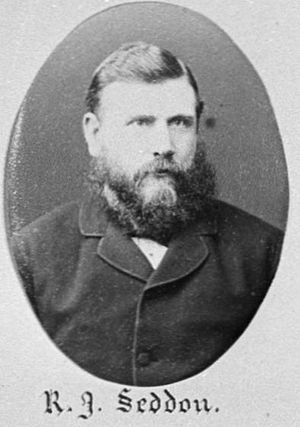 Richard Seddon - Portrait of Richard Seddon in 1882, from a portrait of the 8th New Zealand Parliament.