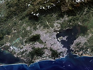 Rio de Janeiro, satellite image, LandSat-5, 2011-05-09 (cropped)