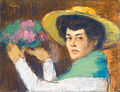 Rippl Woman in Hat Holding a Bouquet.jpg