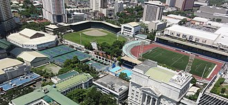 Aerial view of the city-owned Rizal Memorial Sports Complex, considered as the national sports complex of the Philippines. Rizal Memorial Sports Complex birdseye.jpg