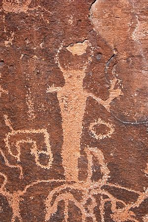 Emery County, Utah - Barrier Canyon Style rock art found in Emery County