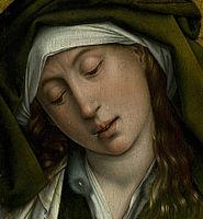 Rogier van der Weyden 14 Jh Mary Salome in The descent from the cross.jpg