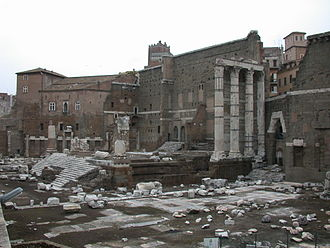 Forum of Augustus - Remains of Forum of Augustus with the Temple of Mars Ultor.