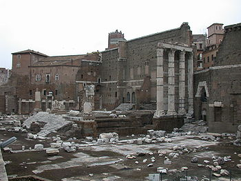 Remains of Forum of Augustus with the Temple o...