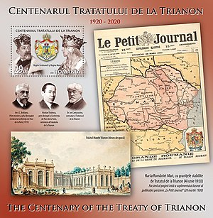 Romanian stamp - The 100th Anniversary of the Trianon Peace Treaty.jpg
