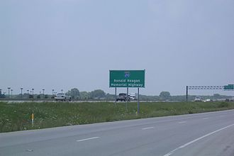 Arlington, Texas - On February 16, 2006, I-20 in Arlington was dedicated as 'Ronald Reagan Memorial Highway' (signs are visible at mile markers 447 and 452)