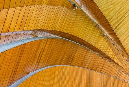 Roof of auditorium in Beacon Park, Sidney, British Columbia, Canada