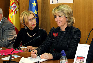 Oswaldo Payá - Spanish politicians Rosa Díez and Esperanza Aguirre at a tribute event for Payá.