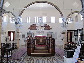 Kahal Shalom Synagogue building in Rhodes, South Aegean, Greece