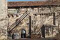Rothenburg ob der Tauber, Stadtbefestigung, Stadtmauer am Pulverturm-20160108-001.jpg
