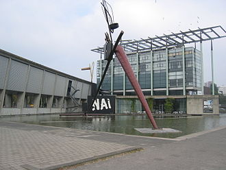 Netherlands Architecture Institute - NAI Rotterdam. On the left the archives, on the right the office building.
