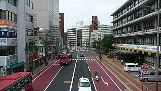 Japan National Route 34 - Image: Route 34 Nagasaki City Office Street