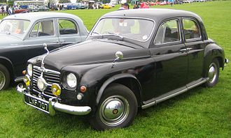Rover P4 - 75 with central headlight registered December 1950