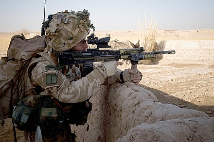 A Royal Marine from 42 Commando during Operation Sond Chara in Afghanistan, 2008.