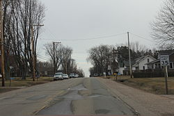 Looking east at Rozellville on County C