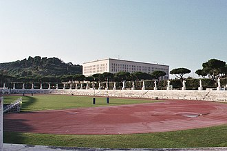 Foro Italico - The Stadio dei Marmi surrounded by statues representing athletes