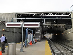 Providence/Stoughton Line - Commuter rail platform at Ruggles station