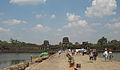 Ruined towers at the entrance of Angkor Wat.JPG