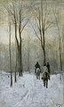 Ruiters in de sneeuw in het Haagse Bos Rijksmuseum SK-A-2443.jpeg