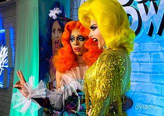 Aja (drag queen) - Aja (left) and Alyssa Edwards (right) at RuPaul's DragCon LA 2018