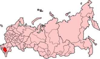 Budyonnovsk hospital hostage crisis - Location of Stavropol Krai territory on the map of Russia