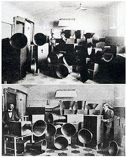 Intonarumori musical instruments built by Luigi Russolo and Ugo Piatti between 1920-1930