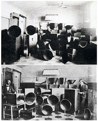 Experimental musical instrument - Luigi Russolo and his intonarumori