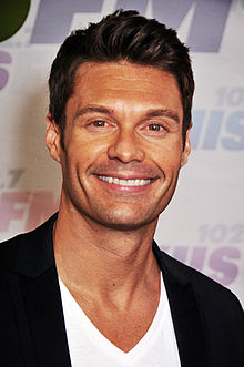 Headshot of television host Ryan Seacrest, taken at a media appearance in California in 2013