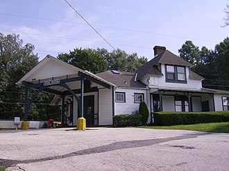 Rydal, Pennsylvania - Rydal Station, designed by architect Frank Furness