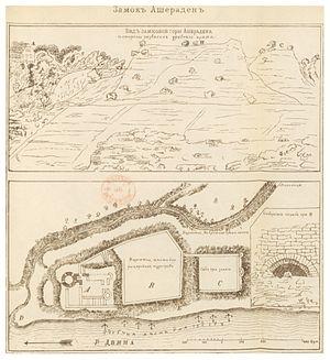 Aizkraukle Castle - Image: SAPUNOV(1893) 81 p 601
