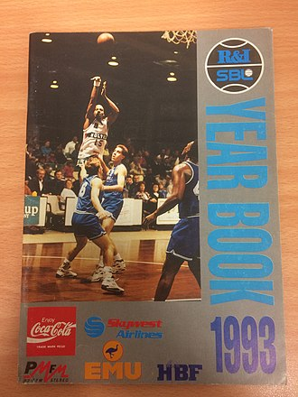 Vince Kelley - Kelley on the cover of the 1993 SBL Yearbook
