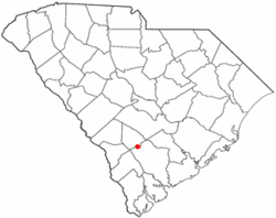 Location of Lodge, South Carolina