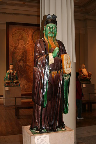 British Museum Department of Asia - Chinese stoneware statue of a judgement figure, 16th century, Ming Dynasty.