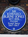 SIR EDWARD BURNE-JONES 1833-1898 Artist lived here 1865-1867.jpg