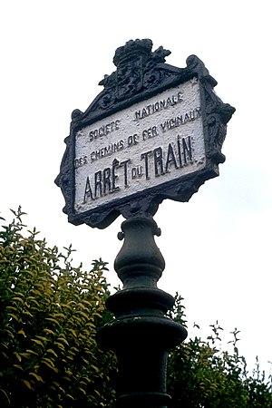 Vicinal tramway - Image: SNCV Signal Arrêt du Train