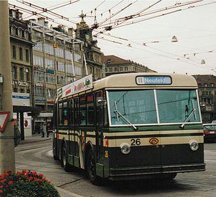 Der Berner GTr51 Nummer 26, aufgenommen 1992