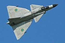 Saab AJS-37 Viggen 37098 52 (SE-DXN) (9256079273).jpg